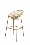cutout image of Hampstead Gold Bar Stool on white background