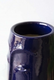 Azul Blue Deep In Thought Face Vase