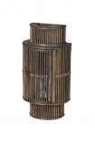 cutout Image of the Bamboo Curved Wall Lantern on a white background