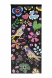 Image of the Birds & Flowers Bamboo Door Curtain on a white background