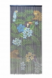 Image of the Tropical Design Bamboo Door Curtain on a white background