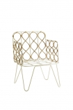 cutout image of the Bamboo Link Armchair on white background angled