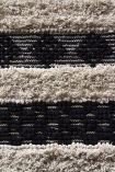 detail image of pattern on Casablanca Natural & Black Moroccan-Style Cotton Rug