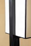 Close-up image of the shade on the Black & White Art Deco Design Floor Lamp
