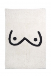 Image of the Black & White Booby Cotton Bath Mat on a white background cutout image