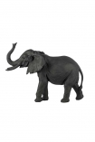 Image of the Black Bull Elephant Ornament on a white background