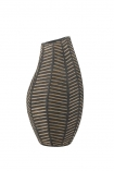 Image of the Black African Ceramic Chevron Vase on a white background