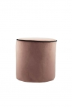 Blush Pink Pouffe With Black Piping