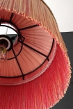 Close-up image of the inside of the BeauVamp Blush Pink Silk Tiffany Lamp Shade