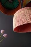 Image showing the fringe on the BeauVamp Blush Pink Silk Tiffany Lamp Shade