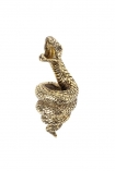 cutout Image of the Antique Gold Snake Bottle Opener on a white background