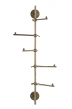 cutout Image of the Light Gold Vertical Coat Rack With Swivelling Pegs on a white background