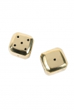 cutout image of Solid Brass Bevelled Dice on white background