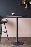 Tall Elm Wood Breakfast Table