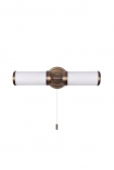 cutout image of Bronze Beaufort Bathroom Wall Light on a white background