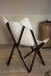 Lifestyle image of the back of the Booby Lady Butterfly Deck Chair