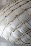 detail image of Capiz Shell Ceiling Light with Cole & Son Mariinsky - Antique Mirror Wallpaper background
