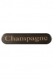 cutout Image of the Carved Champagne Sign on a white background