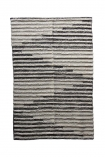 cutout image of Bengal Black & Natural Cotton Rug on white background