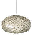 cutout image of Capiz Shell Ceiling Light on white background