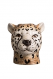 cutout Image of the Cute Cheetah Vase on a white background