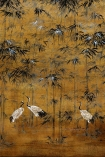 Close-up image of the Chinoiserie Wallpaper Mural - Garzas Chai
