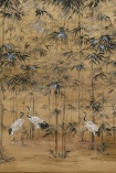 Close-up detail image of the Chinoiserie Wallpaper Mural - Garzas Clow