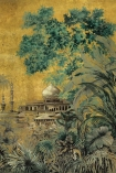 Close-up detail image of the Chinoiserie Wallpaper Mural - Taj Mahal Chai
