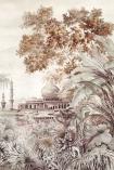 Close-up detail image of the Chinoiserie Wallpaper Mural - Taj Mahal Rose Pink