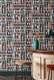 Lifestyle image of the Cocktails Wallpaper by Cole & Son