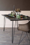 Elm Wood Dining Table With Hairpin Legs