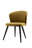 cutout Image of the Golden Ochre Deco Velvet Dining Chair on a white background