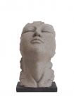 cutout Image of the large Distressed Stone Effect Resting Head Ornament on a white background