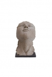 cutout Image of the small Distressed Stone Effect Resting Head Ornament on a white background