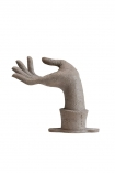cutout Image of the Distressed Stone Effect Om Mudra Hand Wall Art / Coat Hook on a white background