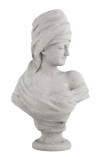 cutout image of Roman Greek Style Lady Bust - Stone Effect on white background