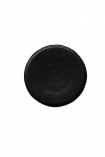 cutout image of Faria Black Dinner Plate on white background