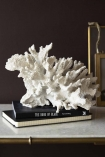 Lifestyle image of the Faux Pure White Coral Ornament