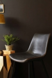 Morris Faux Leather Dining Chair - Charcoal Grey