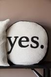 Yes Or No Glamorous Beaded Double Sided Cushion