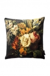 cutout image of the Summer Flowers Velvet Cushion on white background