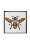 cutout Image of the Framed Bee Collage Art Print on a white background