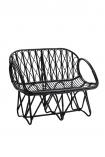 Beautiful Black Bamboo Bench Chair