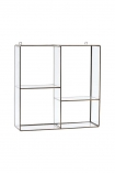 cutout Image of the Wall Mounted Glass Shelf Unit on a white background