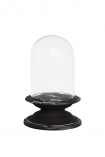 Glass Display Dome With Aged Base - Small