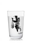 cutout image of Ritzenhoff Milk Glass - Peter Pichler with milk in on white background