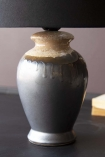 Close-up image of the base of the Small Kiln-Fired Grey Table Lamp