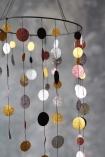 detail image of spots on Glitter Spot Mobile Garland