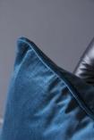 Glorious Velvet Cushion - Sea Blue