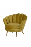 cutout Image of the Ochre Gold Velvet Petal Occasional Chair on a white background